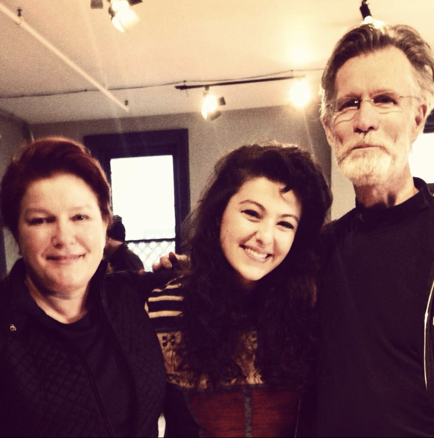 Kate Mulgrew, Melis Aker and Tom Nelis at New Dramatists