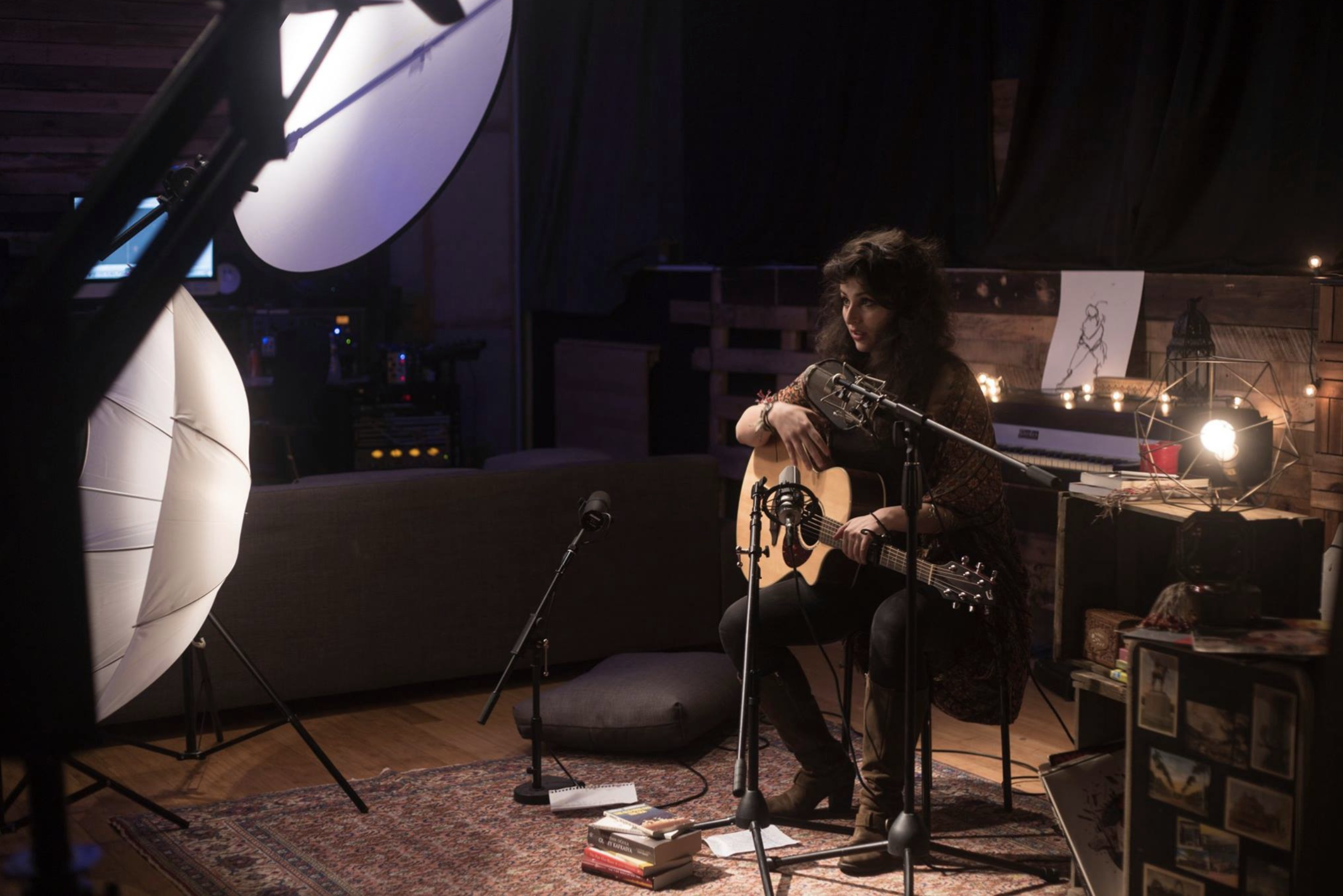 "Recording and shooting the music video for ""Anasozu"" for the upcoming full length album at Studio 42, Brooklyn"