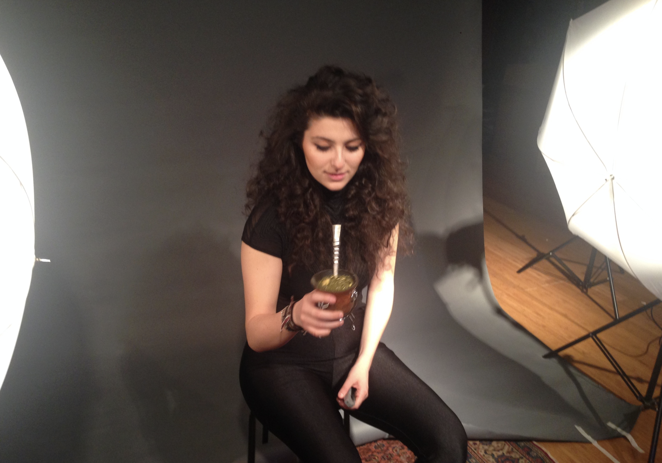 "Drinking mate while recording and shooting the music video for ""The Little Prince"" for upcoming full length album at Studio 42, Brooklyn"