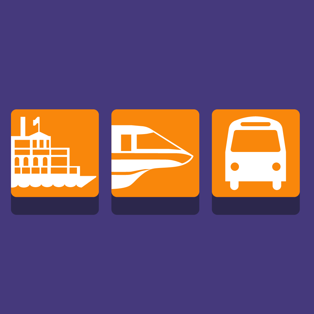 Transportation & Ticket Center Icons