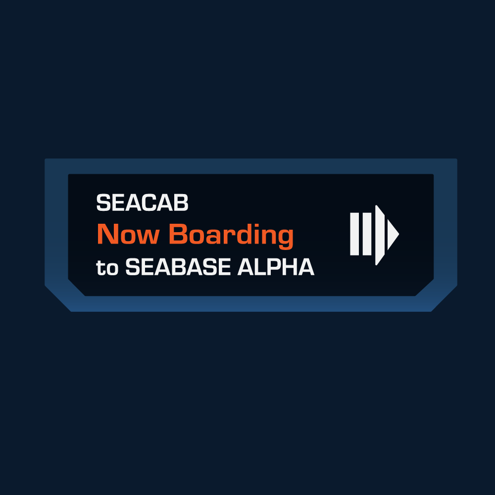 Seacabs Boarding Sign