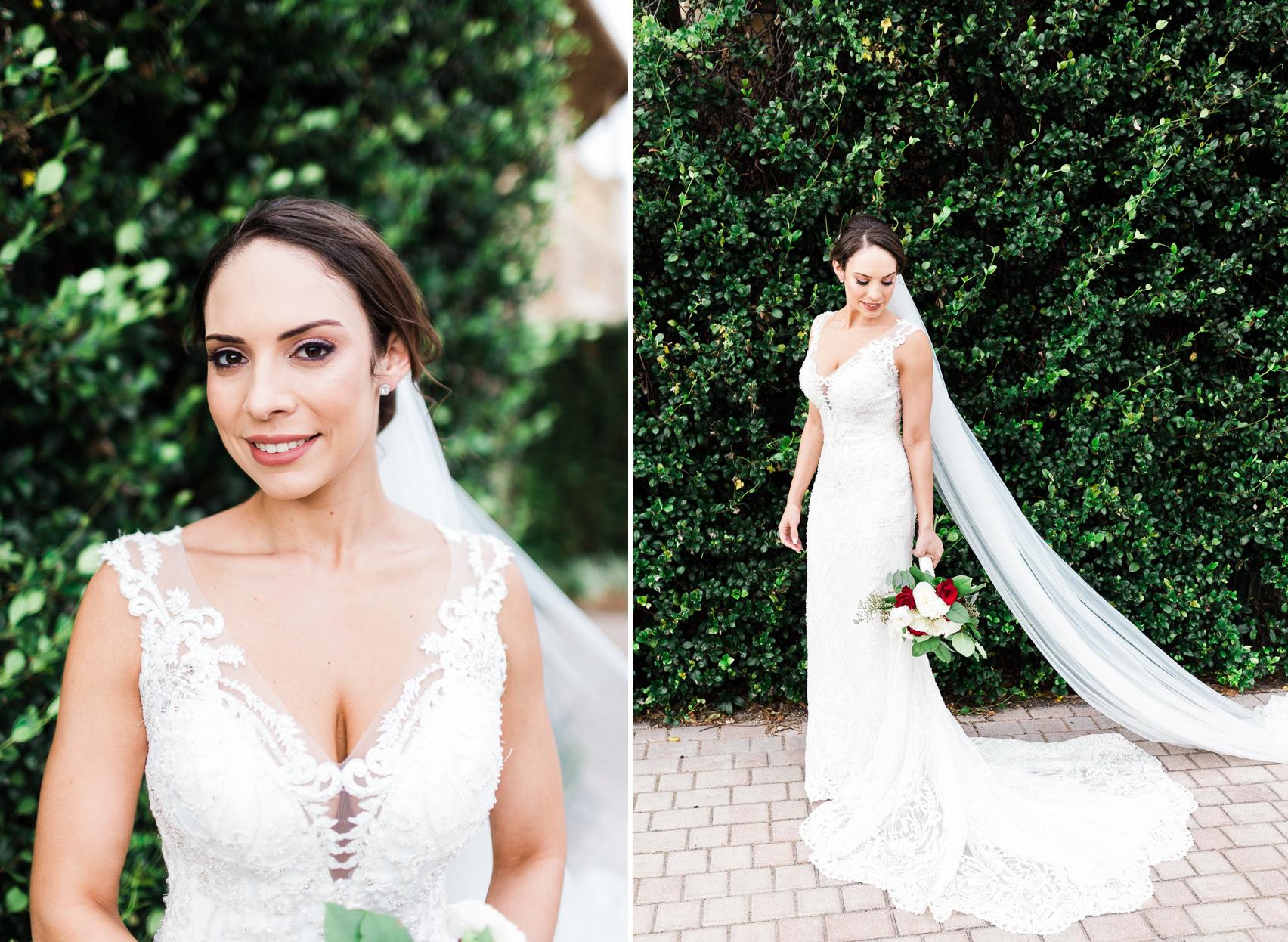 Bride at Eagle Creek Wedding
