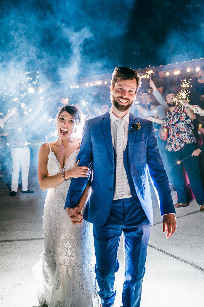 Wedding Sparkler Exit at Club Lake Plantation