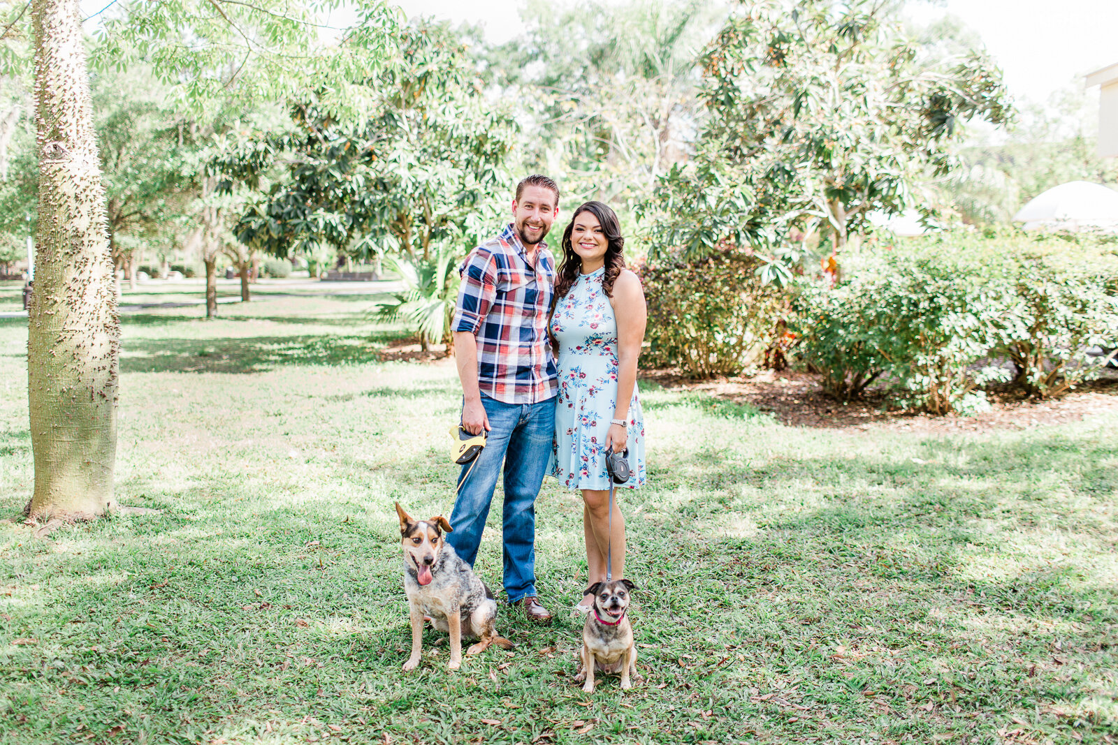 UCF Engagement Photos with dogs