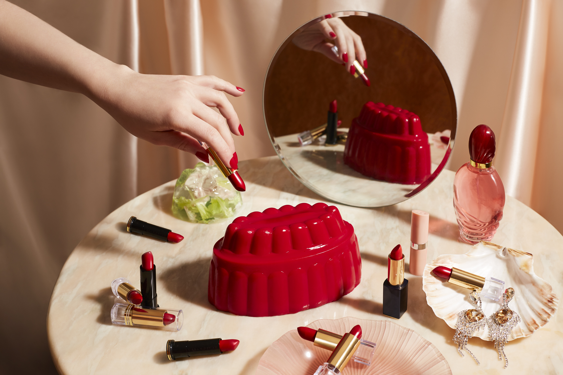 Blancmange & Lipstick Food Styling : Sarah Hardy