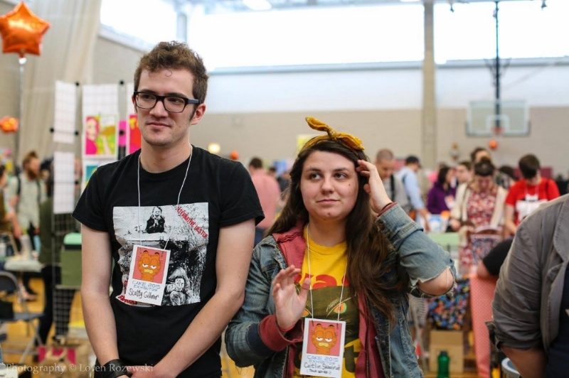 PHOTO CREDIT:  Loren Rozewski  (L to R) Scotty Gillmer & Caitlin Skaalrud, partners in life and in crime @ Talk Weird Press