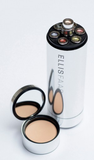 Do you have more than one Ellis Product? Ask about this moderncompact holder. It has space to contain a foundation and powder, along with your own customized selection of: concealer, mascara, eye shadows, or lip colors.