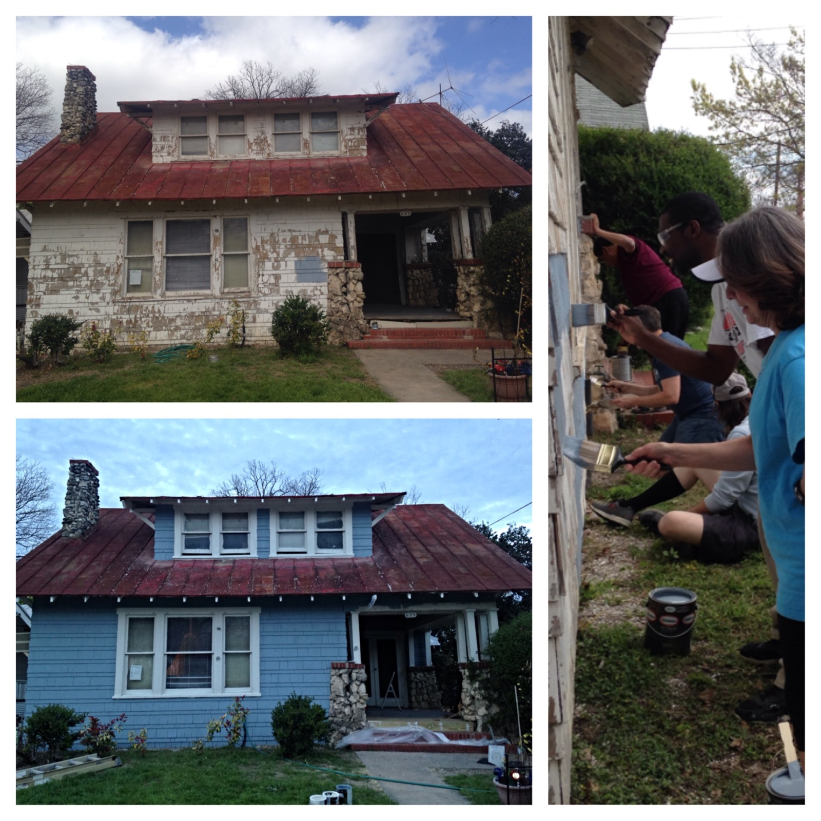 CEC volunteers joined forces with the Tobin Hill Association to refurbish a home in February. After rain delays, the project was completed March 15, 2015.