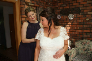 With my sister Sarah, getting ready for her wedding in February 2014, New Zealand