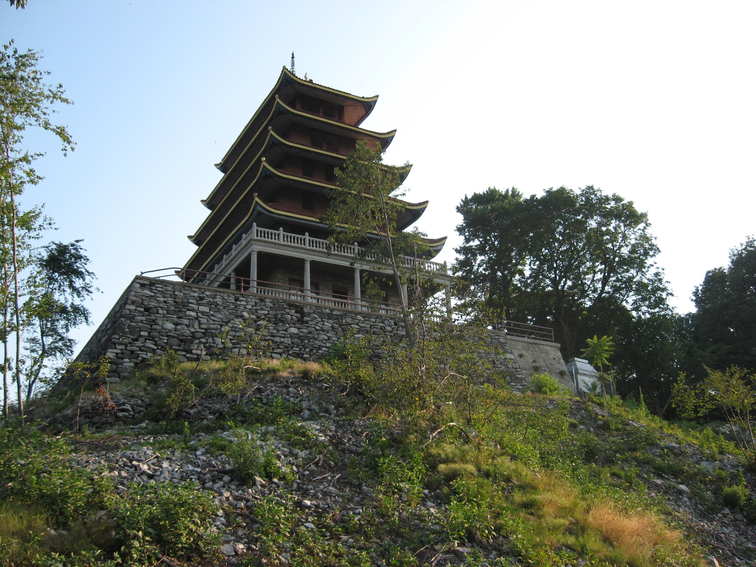 Reading Pagoda and Retaining Wall