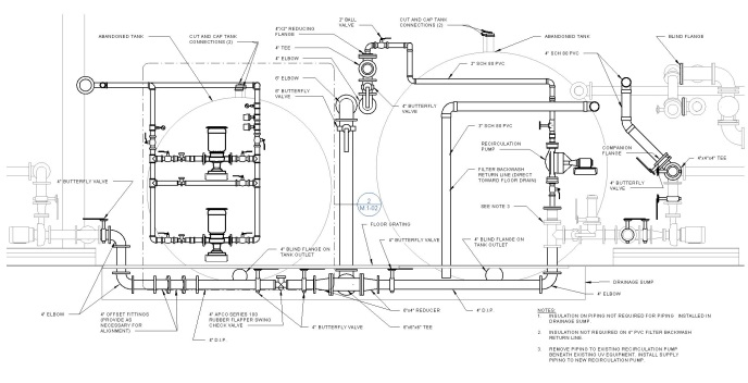 Proposed Section with Existing and Proposed Pipes Modeled