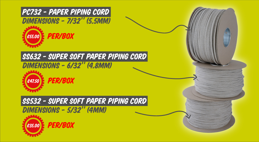 Amazing prices on Paper Piping Cord at Clockwork Components!