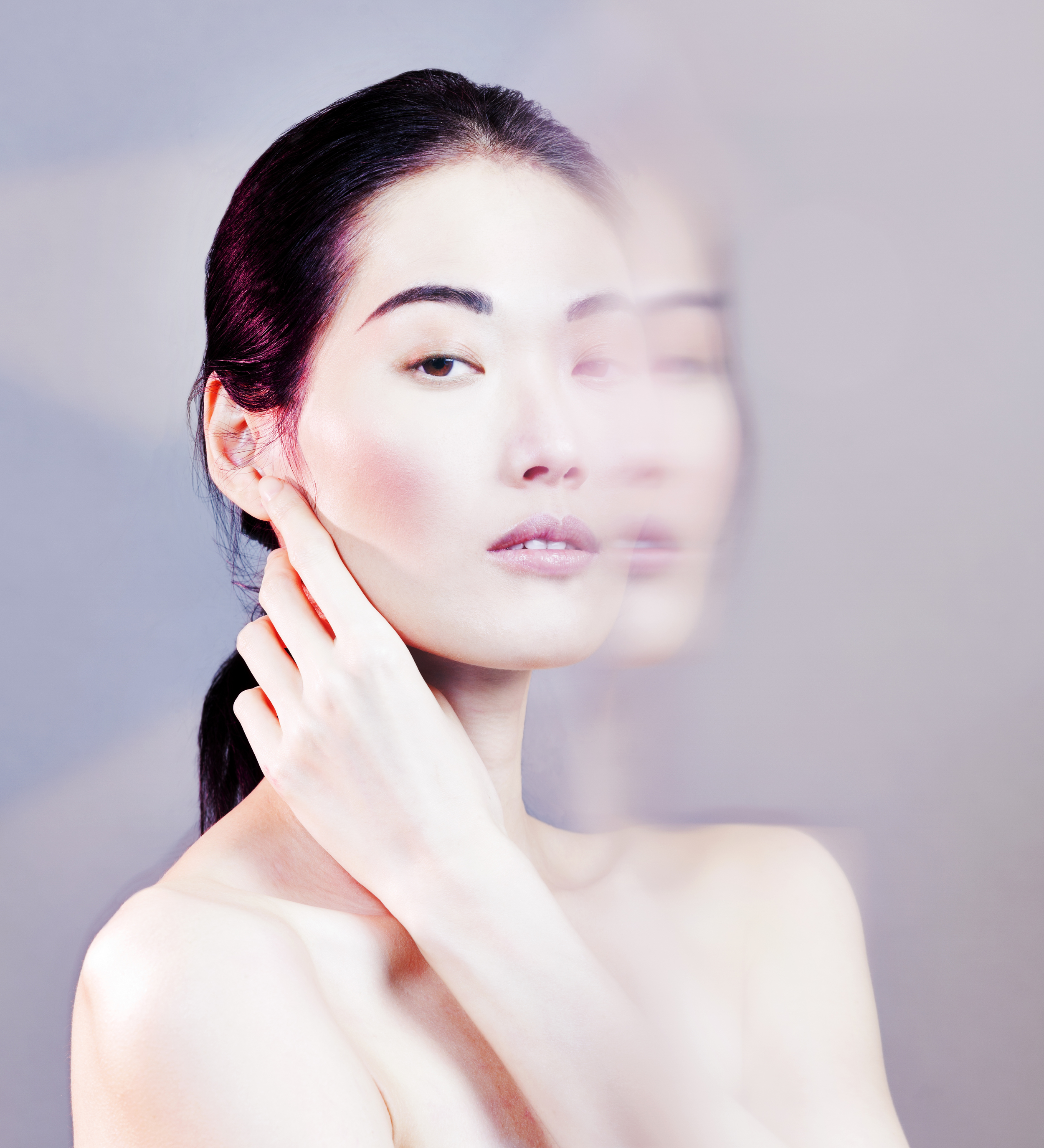 Make-up by Cyril Nesmon @ Backstage Agency . Model is Linli @ Mademoiselle Agency