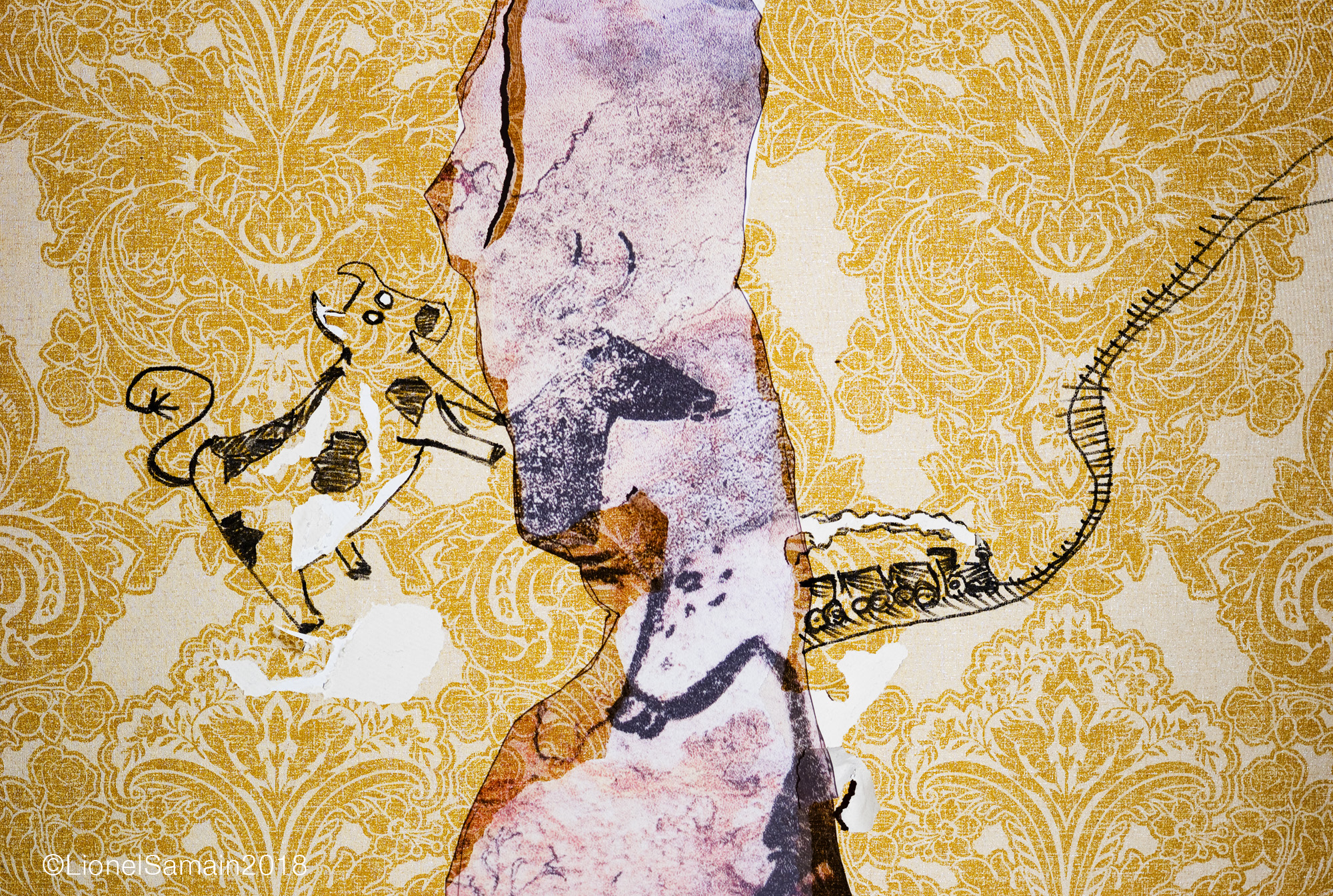 Gold Und Silber (Pyrolator)  @hookedonwalls #hookedonwalls #wallpaper #papierpeint