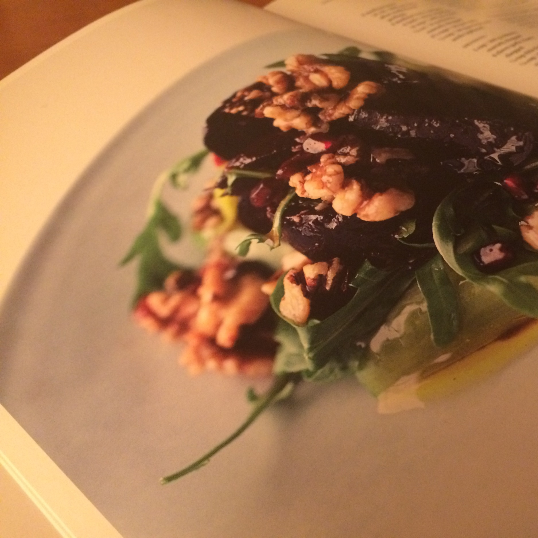 Unfortunately, I was too excited to eat to take an actual photo. So here's a photo of the photo in the book.