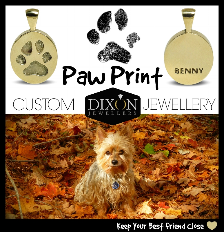 Custom Paw Print Jewellery