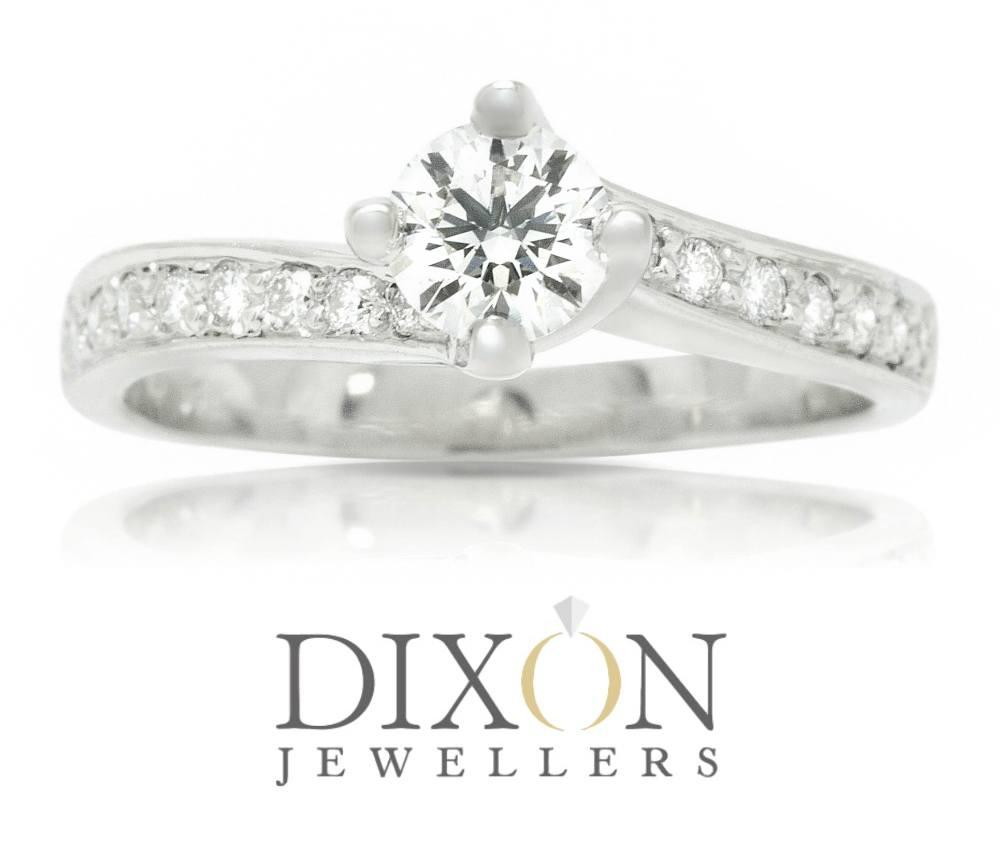 Custom Twisted Setting Engagement Ring