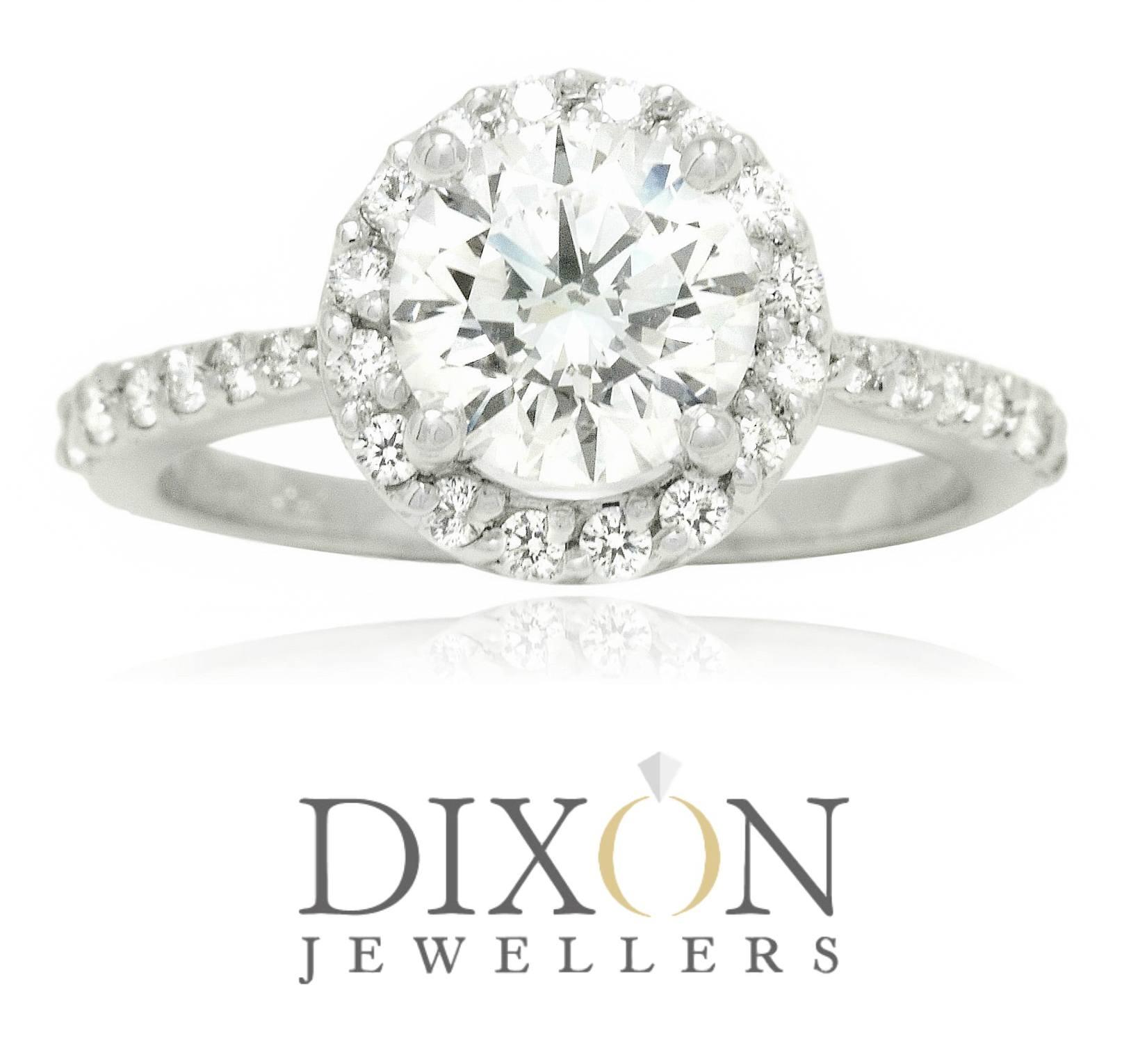 Custom Round Diamond Halo Engagement Ring