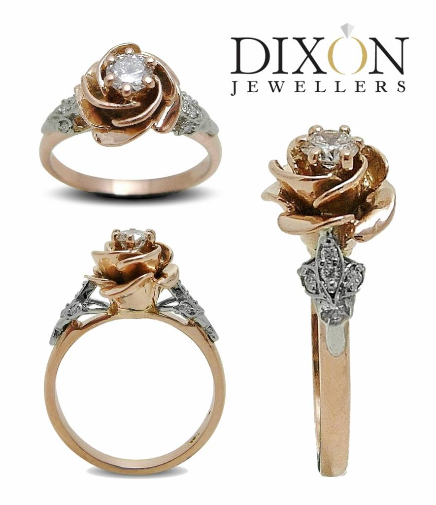 Custom Vintage Inspired Rose Engagement Ring
