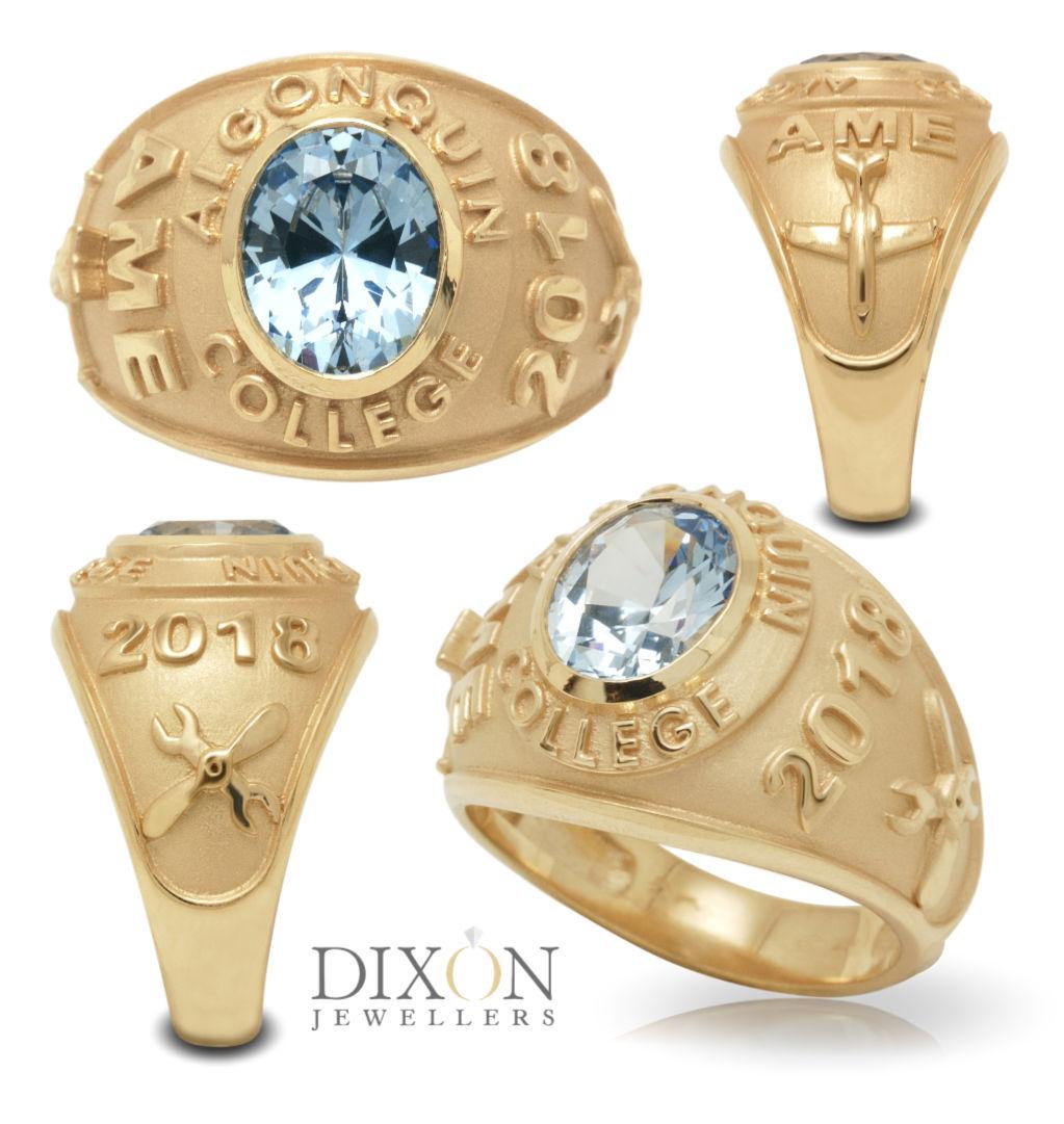 Custom Made Algonquin College Class Ring