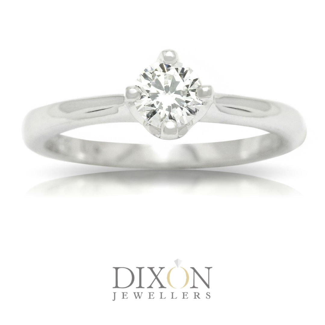 Diamond Solitaire Engagement Ring with NESW Compass Setting