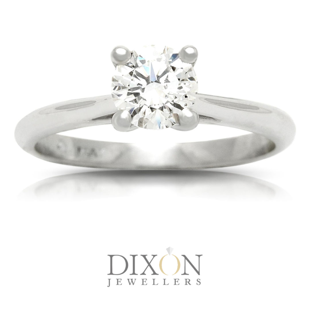 Classic Diamond Solitaire Engagement Ring in Platinum