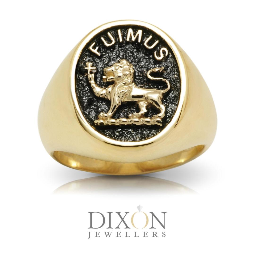 Custom Men's 'Fuimus' Signet Ring in Yellow Gold