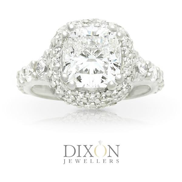 Custom Canadian 2.6ct Cushion Cut Diamond Engagement Ring