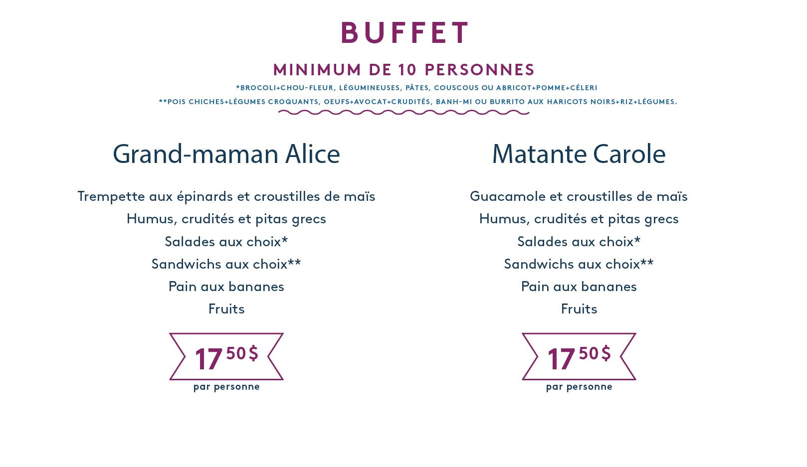 Menu traiteur végétarien Oui Mais Non buffet.png