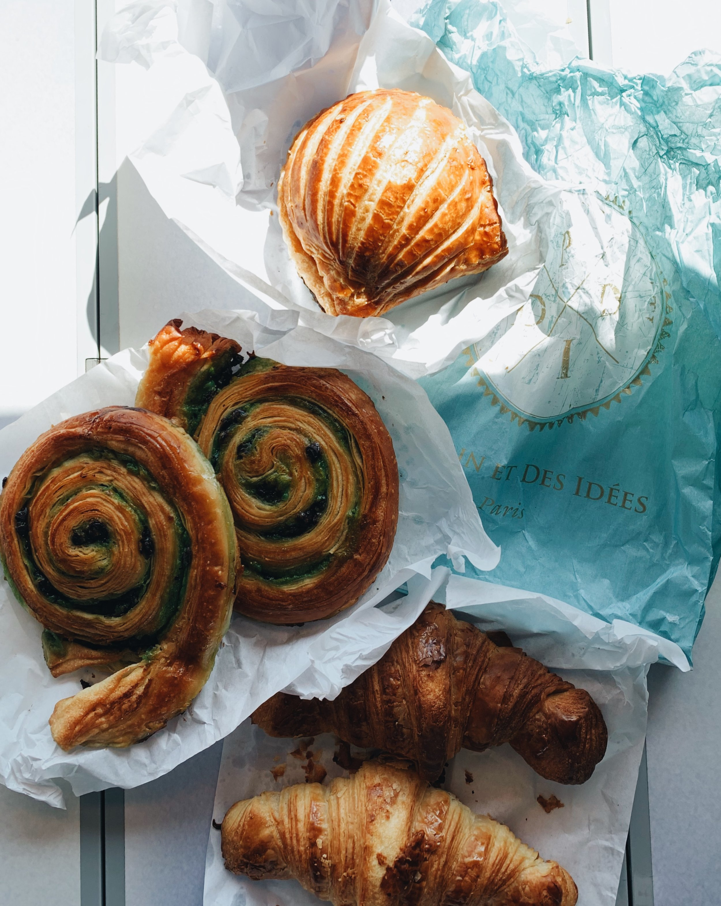 pastries for our train ride to Dijon