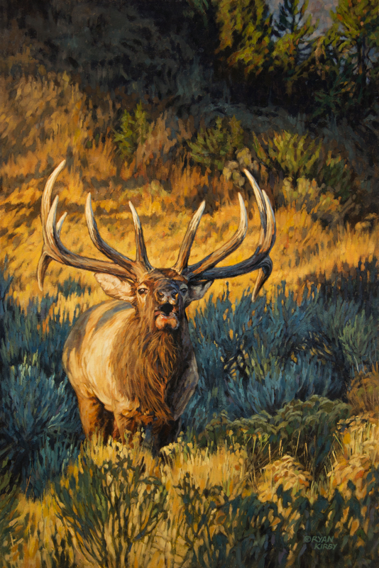 ryan_kirby_original_elk_painting_summit_sound_off