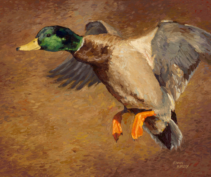 ryan_kirby_original_cupped_mallard_painting_cupped_and_committed_nwtf