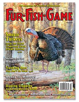 See and Be Seen on the cover of the March, 2015 Fur-Fish-Game