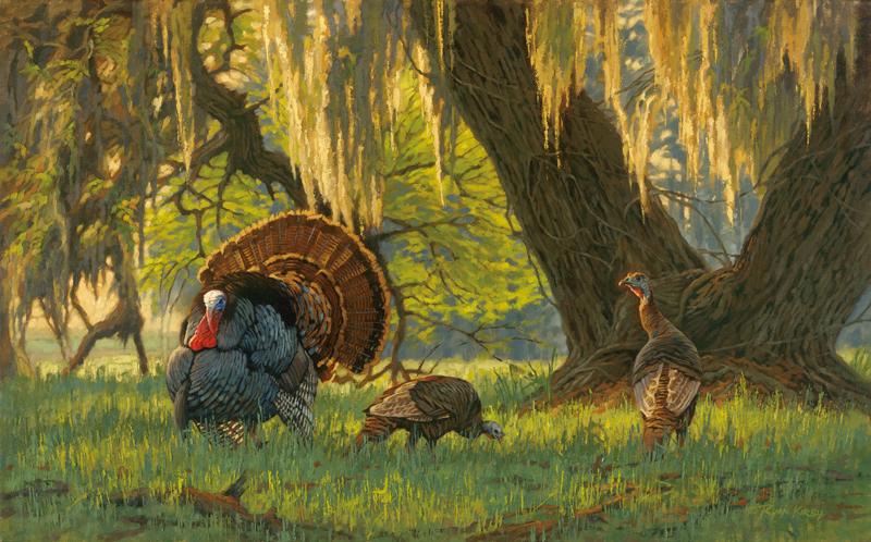 ryan_kirby_original_wild_turkey_painting_boss_of_the_moss