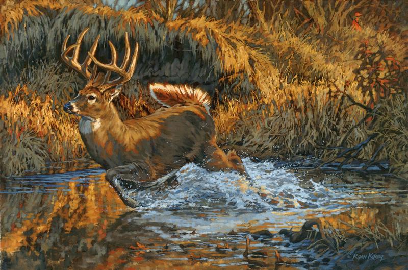 ryan_kirby_original_whitetail_deer_painting_the_slip