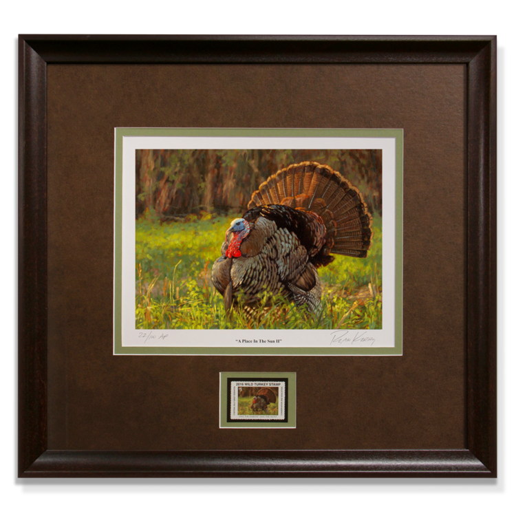 Ryan-Kirby-Turkey-NWTF-2016-Framed-Stamp-Print-A-Place-In-The-Sun.png