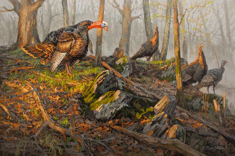 Copyright-Ryan-Kirby-Wild-Turkey-Painting-Chief-36x24