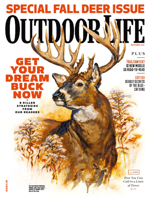 Running and Gunning on the September 2016 cover of  Outdoor Life  Magazine