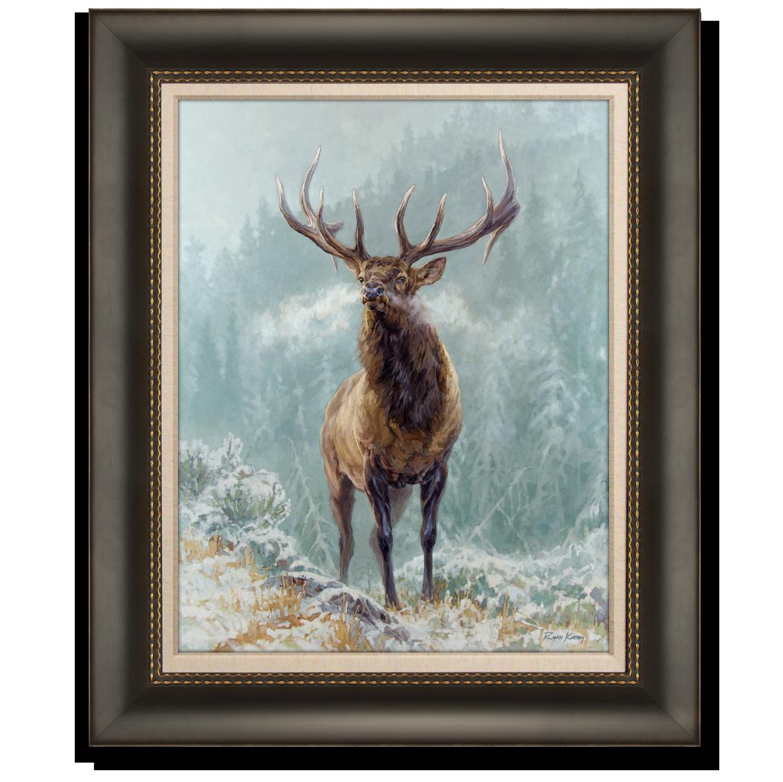 Ryan Kirby Art Elk Western Big Game Canvas Giclees And Paper Prints