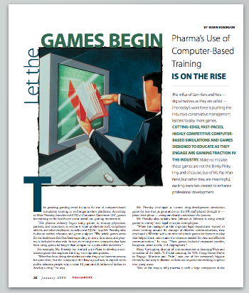 Let The Games Begin - Pharm's Use of Computer-Based Training