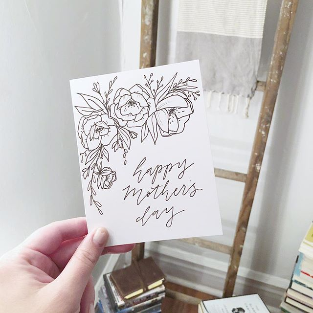 My annual Mother's Day card made it to my mom in PA💌! It's hard not living closer to home, but maybe I'll celebrate her today by buying potted herbs (and getting a manicure...). I think she'd enjoy that.