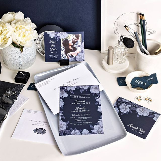 Last week @zola launched its first invites and paper collab with Reese Witherspoon's lifestyle brand @draperjames. I had so much fun working on this southern-inspired project, from designing the suites, to being in the studio to shoot them, and designing the landing page. Check 'em out at the link in my profile! #weddingstationery #draperjames #zolaweddings 📷 @tracield; styling @kellymshea