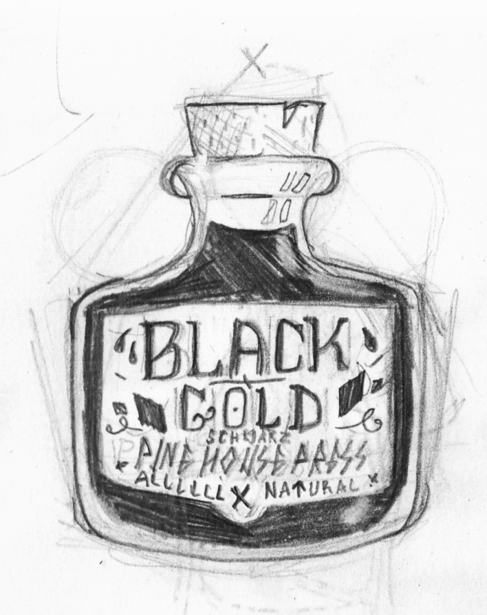imagined printmaking ink with the Pinehouse Press brand on it