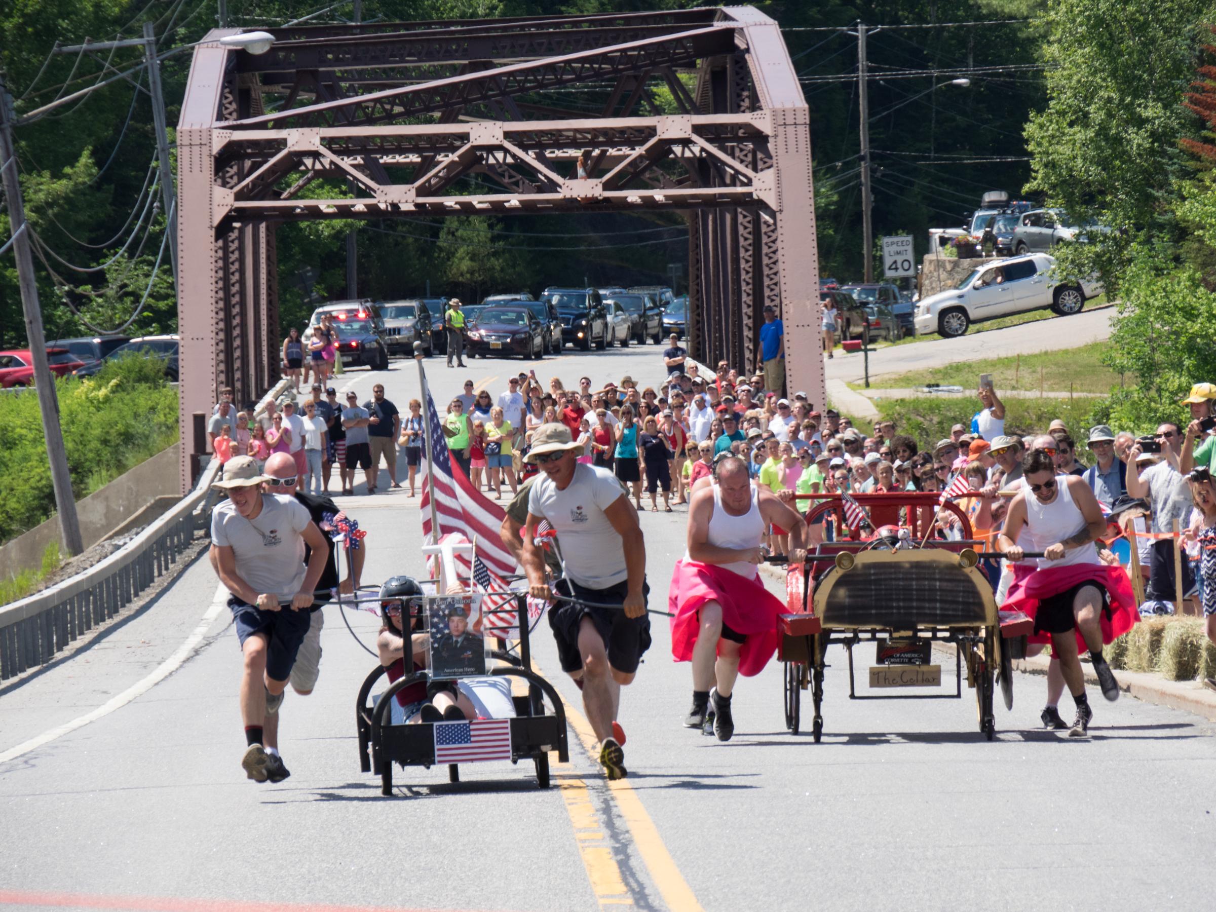 4th of July Bed Races at Long Lake