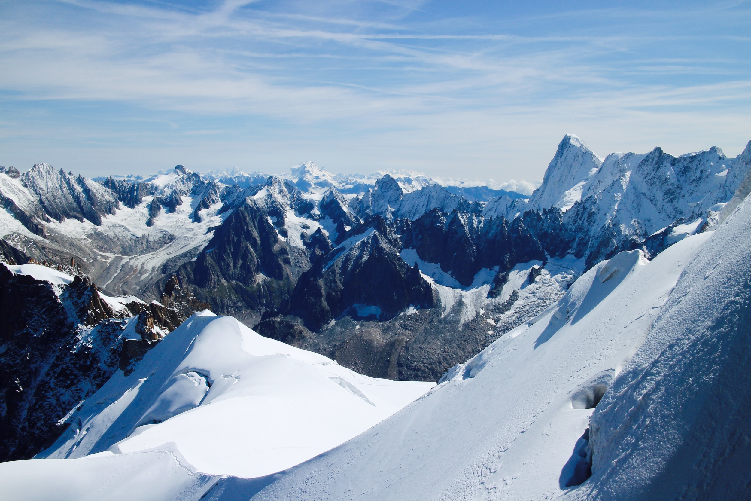 French Alps/Vast, big and rich and raw.