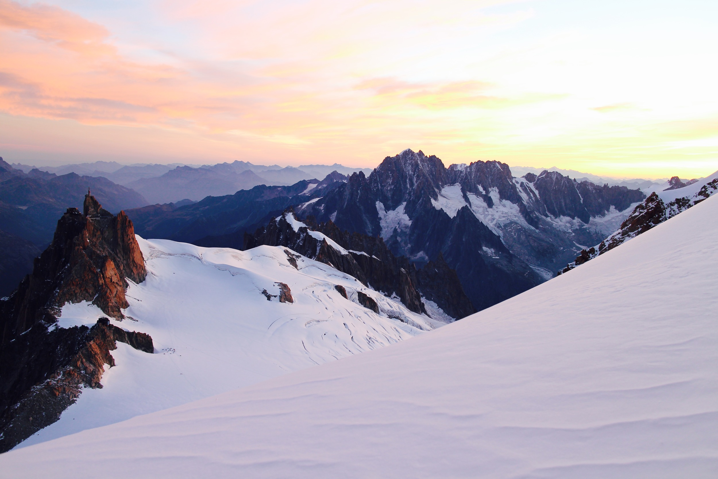 French Alps/Are these delightful moments to live in thoughtlessly or the golden moments of a final sunset?