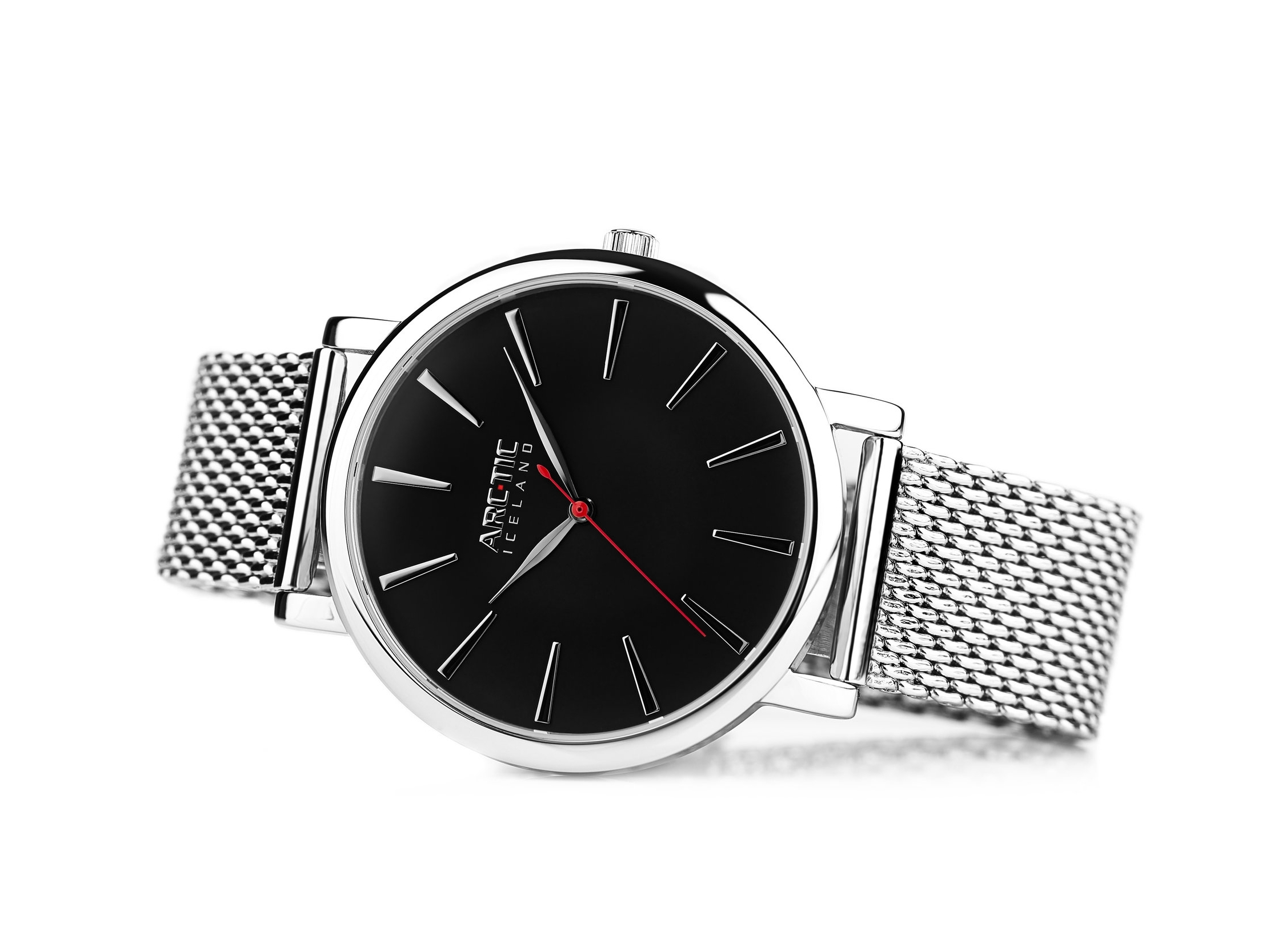 ARC-TIC Iceland Retro black 36mm with Steel band -  Learn More