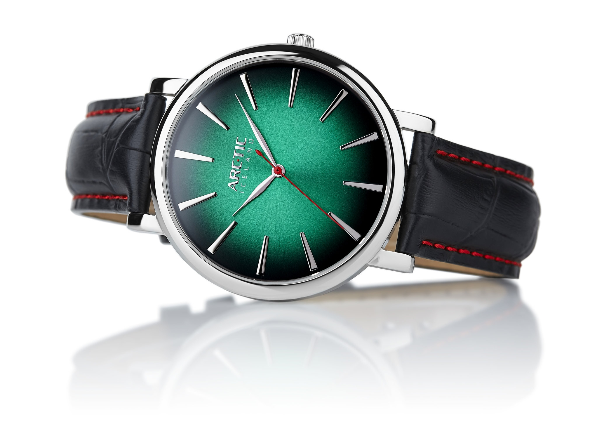 ARC-TIC Iceland Retro Green 42mm   or 36mm with black leather strap-   Learn More