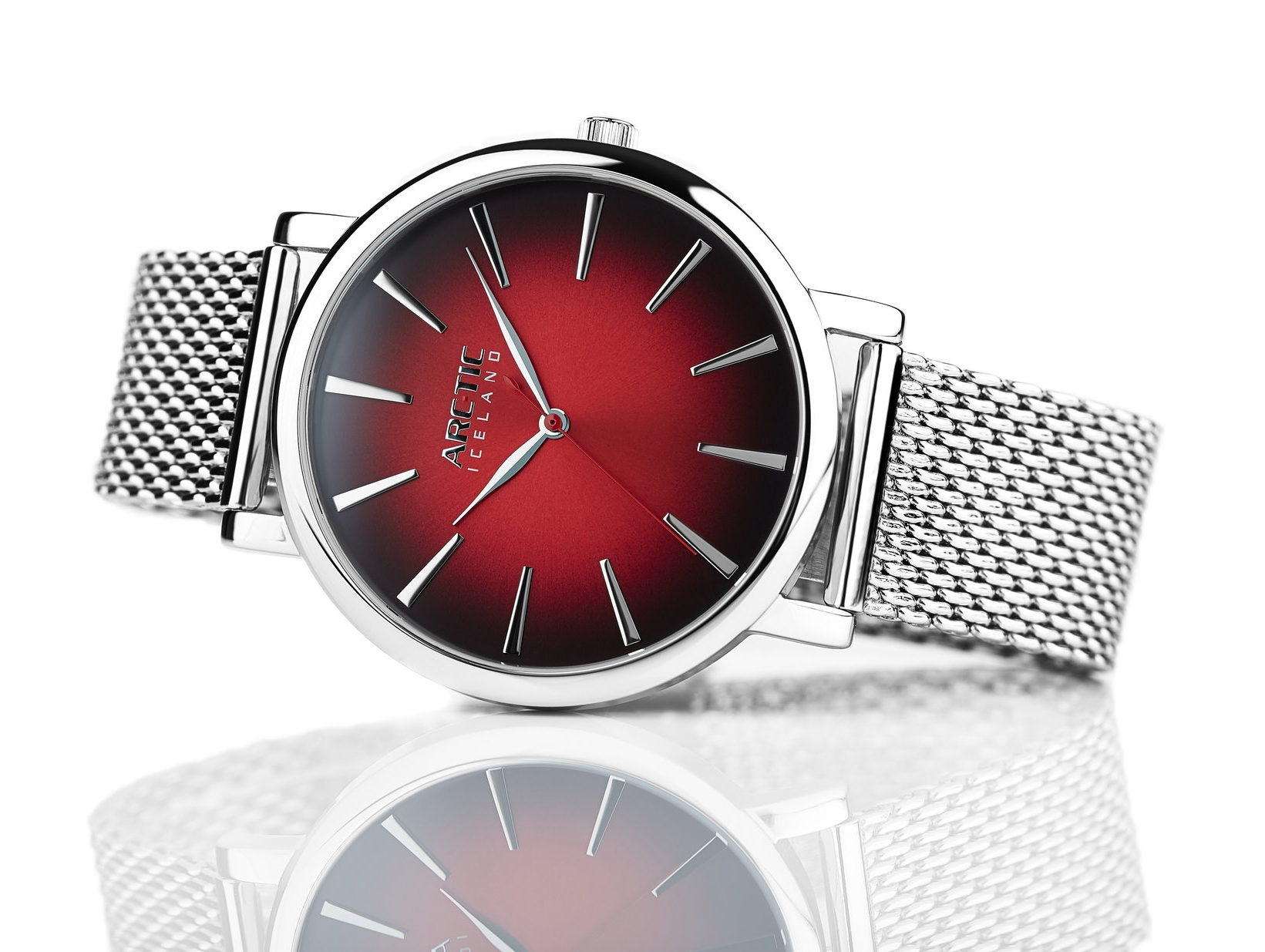 ARC-TIC Iceland Retro Red 42mm or 36mm with Steel band -   Learn More