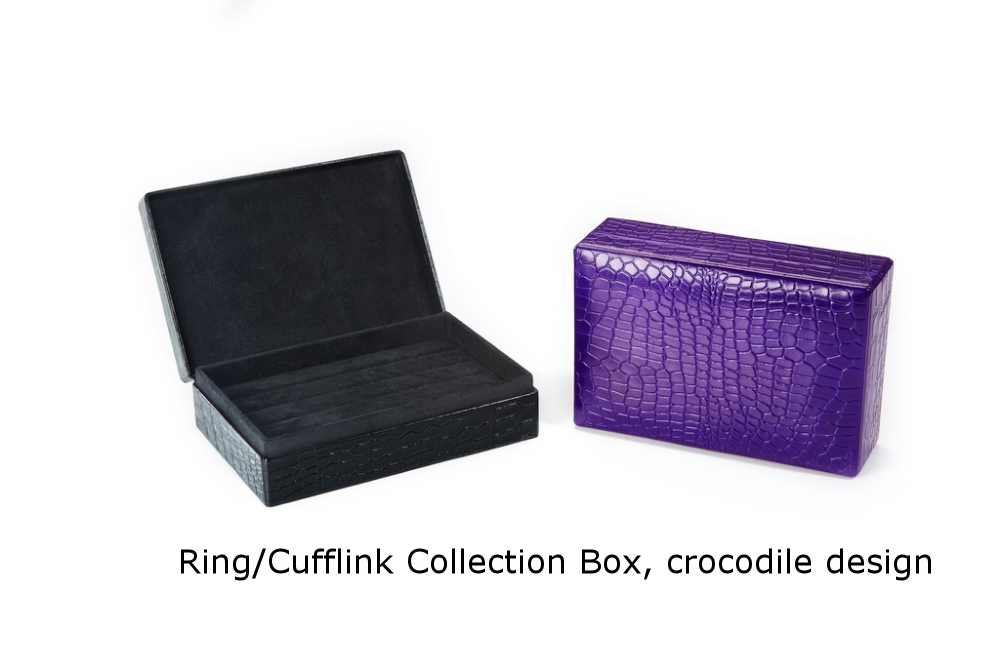 Ring-Cufflink Collection Box Crocodile.jpg